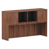 Alera ALEVA286015WA Valencia Walnut 3 Compartment Bookcase Hutch - 59 inch x 35 1/2 inch x 15 inch