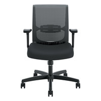 HON CMS1AACCF10 Convergence Series Black Mesh Mid-Back Task Chair