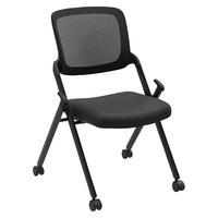 HON VL304BLK Basyx VL304 Series Nesting Black Mesh Chair - 2/Case
