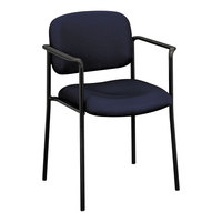 HON VL616VA90 Basyx VL616 Series Stackable Navy Fabric Guest Chair