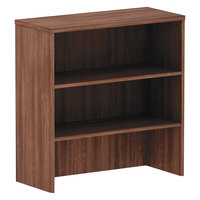 Alera ALEVA283415WA Valencia Walnut 3 Compartment Bookcase Hutch - 34 inch x 35 1/2 inch x 15 inch