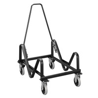 HON 4033T 21 3/8 inch x 35 1/2 inch x 37 7/8 inch Black GuestStacker Chair Cart