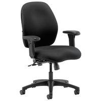 HON 7823CU10T 7800 Series Black Fabric Mid-Back Swivel Task Chair