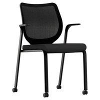 HON N606HCU10 Nucleus Series Stackable Black Seat / Base Ilira-Stretch M4 Multi-Purpose Chair