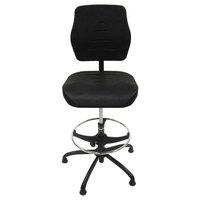 ShopSol 3010014 SSX Black Polyurethane Swivel Production Chair