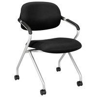 HON VL303MM10X Basyx VL303 Series Nesting Black / Silver Mesh Chair