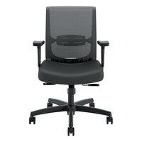 HON CMY1AUR10 Convergence Series Black Mesh Mid-Back Syncho-Tilt Task Chair