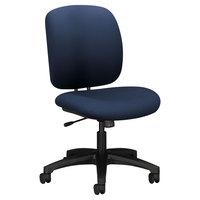 HON 5902CU98T ComforTask Series Navy Fabric Swivel Task Chair
