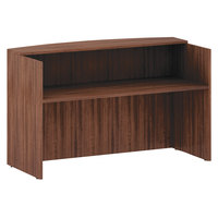 Alera ALEVA327236WA Valencia 71 inch x 35 1/2 inch Modern Walnut Reception Desk with Counter