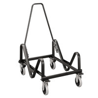 HON 4043T 21 3/8 inch x 35 1/2 inch x 37 inch Black Olson Stacker Series Chair Cart