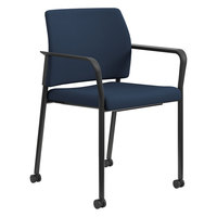 HON SGS6FBCU98B Accommodate Series Cerulean Fabric Stacking Guest Chair with Casters   - 2/Case