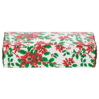 8 7/8 inch x 3 3/4 inch x 2 3/8 inch 1-Piece 2 lb. Poinsettia Candy Box - 250/Case