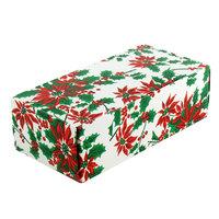 8 7/8 inch x 3 3/4 inch x 2 3/8 inch 1-Piece 2 lb. Poinsettia Candy Box - 250/Case