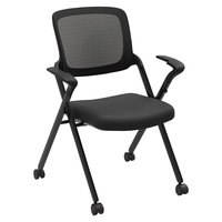 HON VL314BLK Basyx VL314 Series Nesting Black Mesh Chair - 2/Case