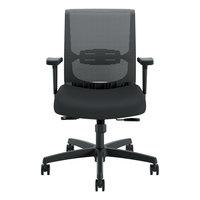 HON CMY1AACCF10 Convergence Series Black Mesh Mid-Back Syncho-Tilt Task Chair