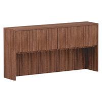 Alera ALEVA287215WA Valencia Walnut 4 Compartment Bookcase Hutch - 71 inch x 35 1/2 inch x 15 inch