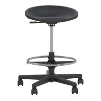 Mayline 6005AGB Black Tech Stool with Black Base