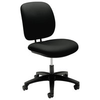 HON 5901CU10T ComforTask Series Black Fabric Swivel Task Chair
