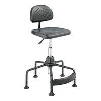 Safco 5117 TaskMaster Series EconoMahogany Black Foam Industrial Swivel / Tilt Chair