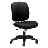 HON 5902CU10T ComforTask Series Black Fabric Swivel Task Chair