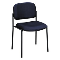 HON VL606VA90 Basyx VL606 Series Stackable Navy Fabric Guest Chair