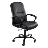 Safco 3500BL Serenity Big and Tall Black Leather Swivel / Tilt Office Chair