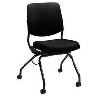 HON PN1AUUCU10T Perpetual Series Nesting Black Fabric Chair