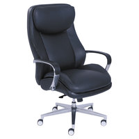 La-Z-Boy 48968 Commercial 2000 Black Leather Big and Tall Executive Office Chair