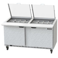 Beverage-Air SPE60HC-24M-CL Elite 60 inch 2 Door Mega Top Refrigerated Sandwich Prep Table