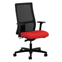 HON IW103CU67 Ignition Series Mid-Back Black / Ruby Mesh Office Chair