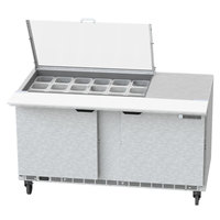 Beverage-Air SPE60HC-18M-CL Elite 60 inch 2 Door Mega Top Refrigerated Sandwich Prep Table