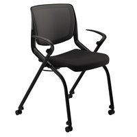 HON MN202ONCU10 Motivate Seating Stackable Black Flex-Back Chair