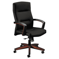 HON 5001NUR10 5000 Series Park Avenue Collection High-Back Black Fabric Executive Knee Tilt Chair