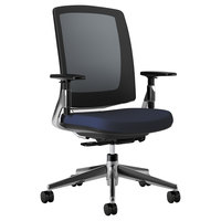 HON 2283VA90PA Lota Series Mid-Back Navy Mesh Swivel / Tilt Chair