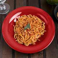 Carlisle 3303405 Sierrus 9 1/4 inch Red Melamine Pasta / Soup / Salad Bowl - 24/Case