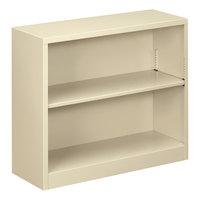 Alera ALEBCM22935PY 34 1/2 inch x 12 5/8 inch x 29 inch Putty Steel 2-Shelf Bookcase