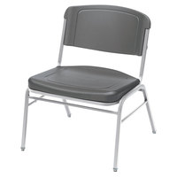 Iceberg 64127 Rough N Ready Series Stackable Charcoal HDPE Big and Tall Chair   - 4/Case