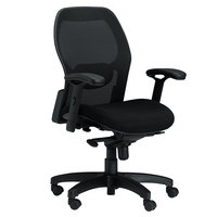 Safco 3200 Mercado Series Mid-Back Black Mesh Office Chair