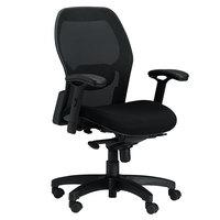 Mayline 3200 Mercado Series Mid-Back Black Mesh Office Chair