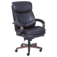 La-Z-Boy 48961B Woodbury Brown Leather Big and Tall Executive Office Chair