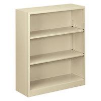 Alera ALEBCM34135PY 34 1/2 inch x 12 5/8 inch x 41 inch Putty Steel 3-Shelf Bookcase