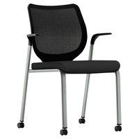 HON N606HCU10T1 Nucleus Series Stackable Black Ilira-Stretch M4 Multi-Purpose Chair