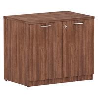 Alera ALEVA613622WA Valencia Modern Walnut Storage Cabinet - 34 inch x 22 7/8 inch x 29 5/8 inch