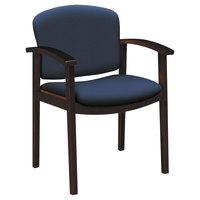 HON 2111NCU98 2111 Invitation Reception Series Navy Fabric / Mahogany Wood Guest Chair