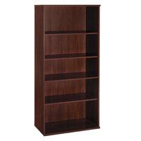 Bush WC24414 Series C Collection 35 5/8 inch x 15 3/8 inch x 72 7/8 inch Standard Hansen Cherry 5-Shelf Bookcase