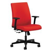 HON IT105CU67 Ignition Series Low-Back Ruby Fabric Office Chair