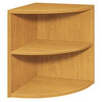 HON 105520CC 10500 Series Harvest 2-Shelf End Cap Bookcase - 24 inch x 24 inch x 29 1/2 inch
