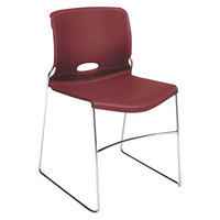 HON 4041MB Olson Stackable Mulberry Polymer Chair   - 4/Case
