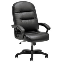HON 2095HPWST11T 2090 Series Pillow-Soft High-Back Black Leather Swivel / Tilt Chair