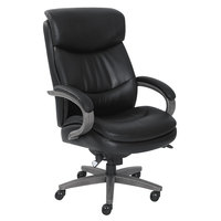 La-Z-Boy 48961A Woodbury Black Leather Big and Tall Executive Office Chair